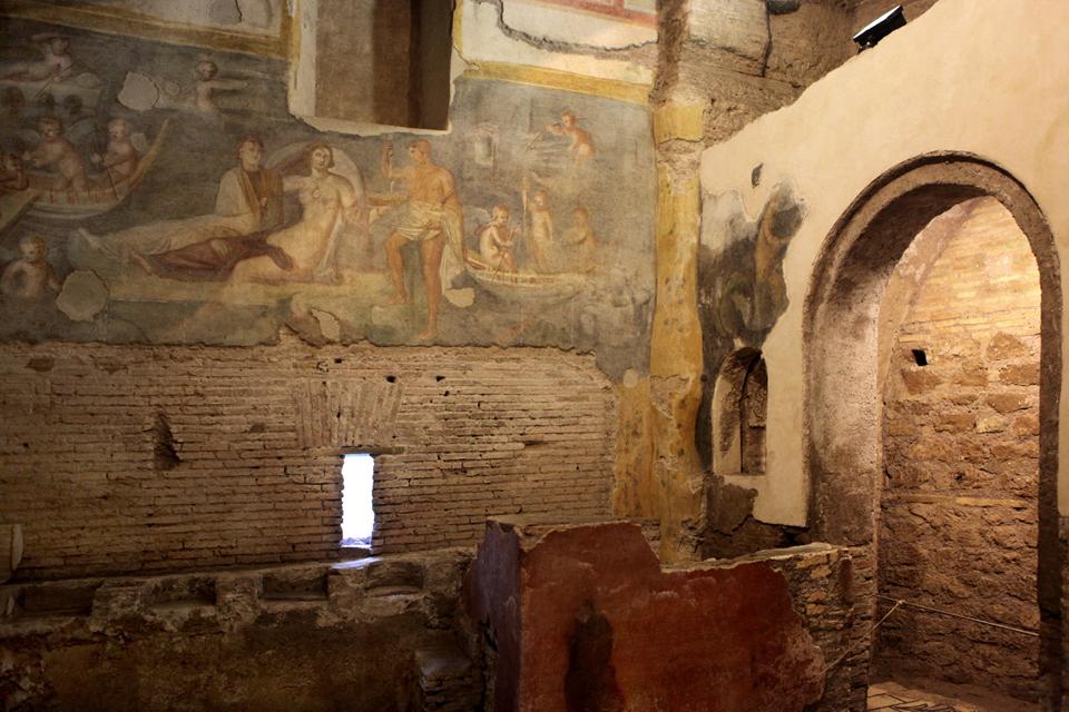 подземелья Рима подземный Рим древний Рим архитектура древнего рима археологические находки древние постройки  case romane римские дома фрески