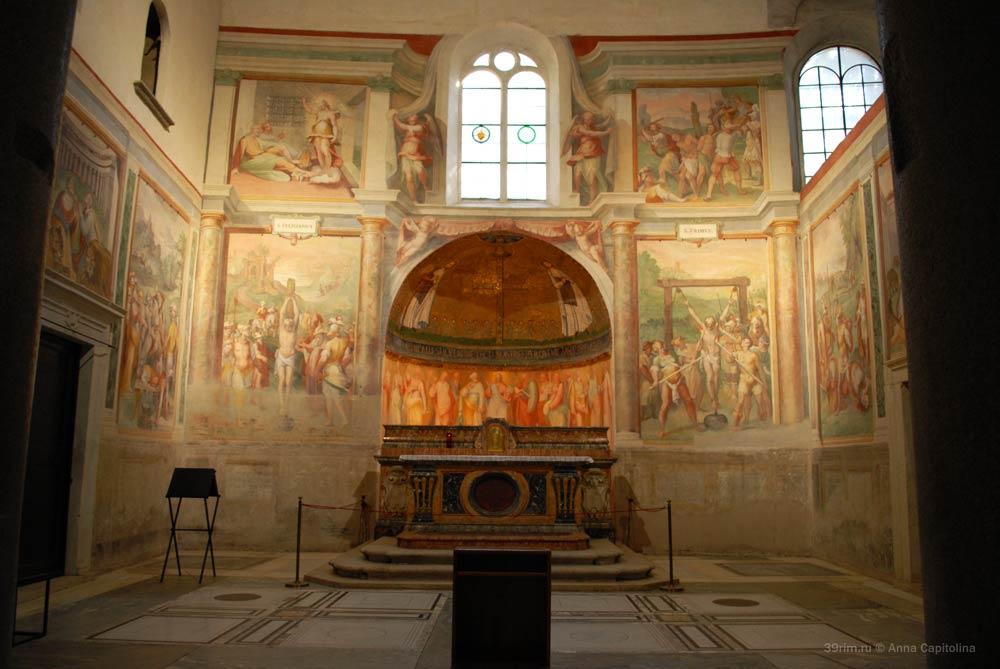 собор святого стефана на целии рим древние храмы капелла прима и фелициана фрески