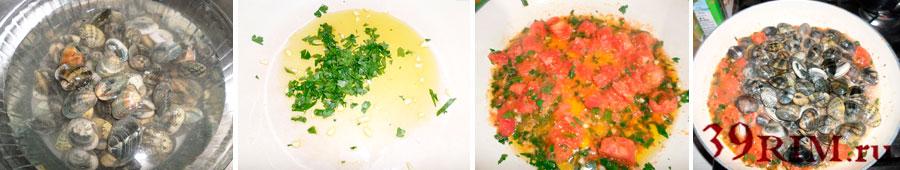итальянская паста с морепродуками пошаговый рецепт с фото и описанием паста макароны спагетти мидии креветки томатный соус ракушки вонголе