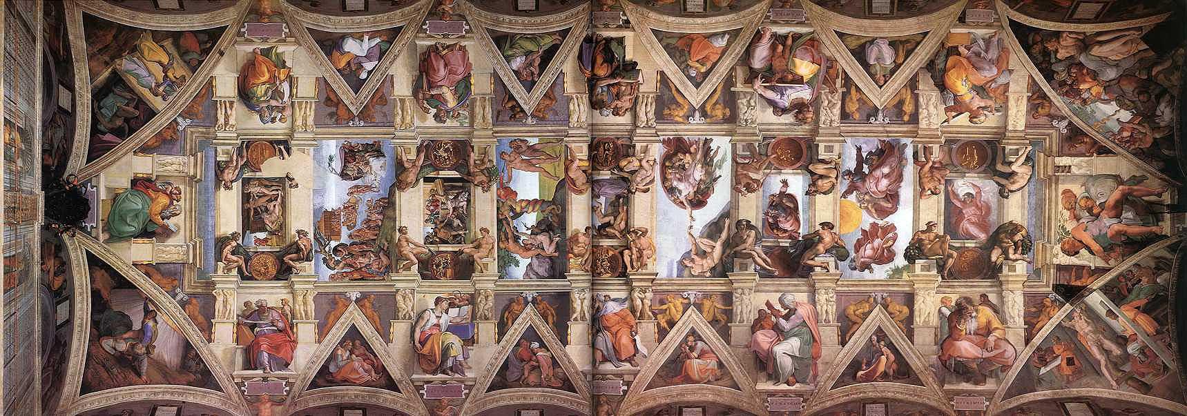 Фрески, Сикстинская капелла, Cappella_sistina,_volta