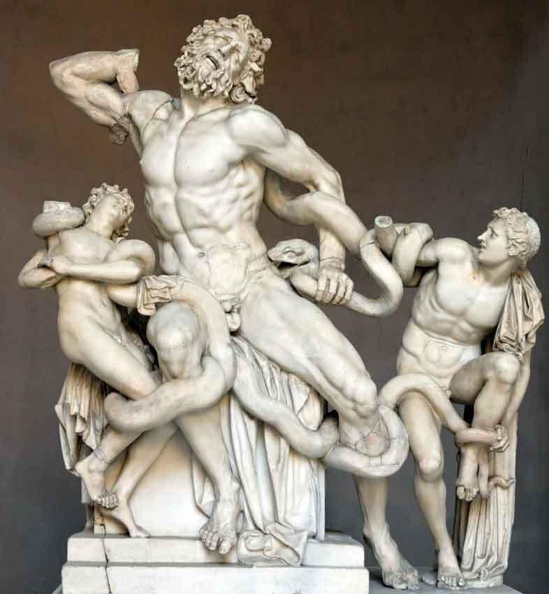 Лоакоон, музеи ватикана, Laocoonte
