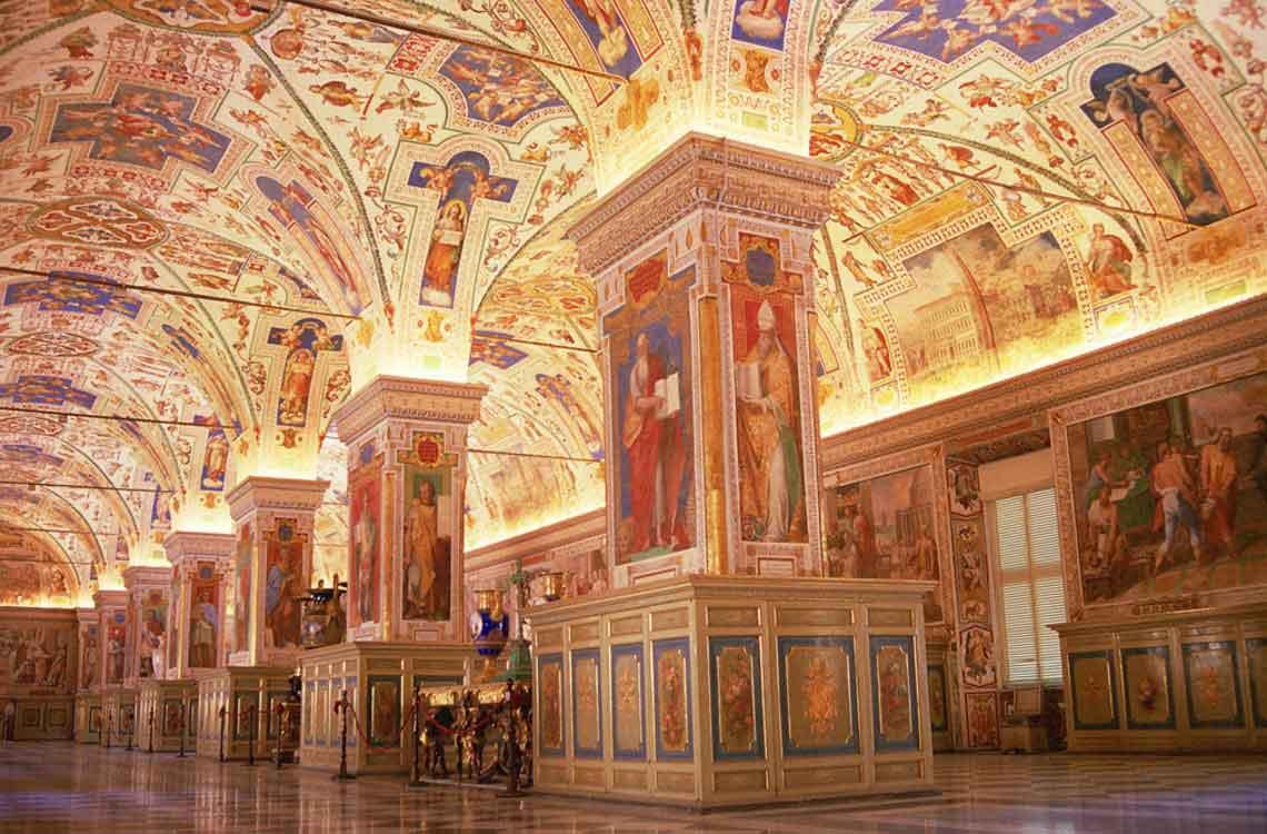 музеи ватикана, библиотека втикана,biblioteca vaticani