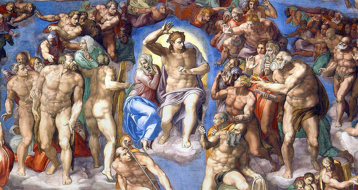 сикстинская капелла, страшный суд микеланджело фреска