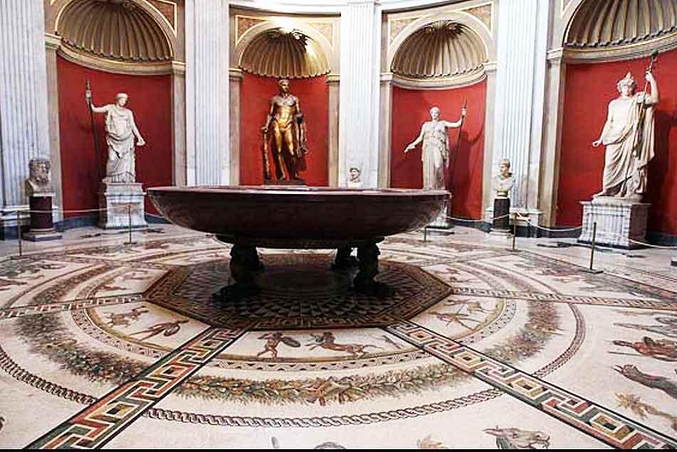 зал ротонда, музеи ватикана, sala rotonda, musei vaticani