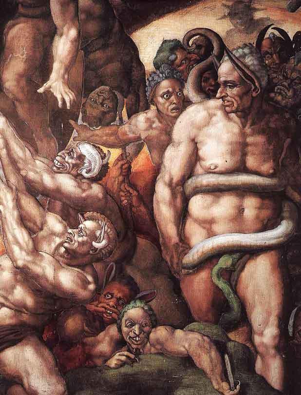 Микеланджело Страшный суд, Michelangelo