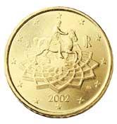 пятьдесят центов, монета, euro