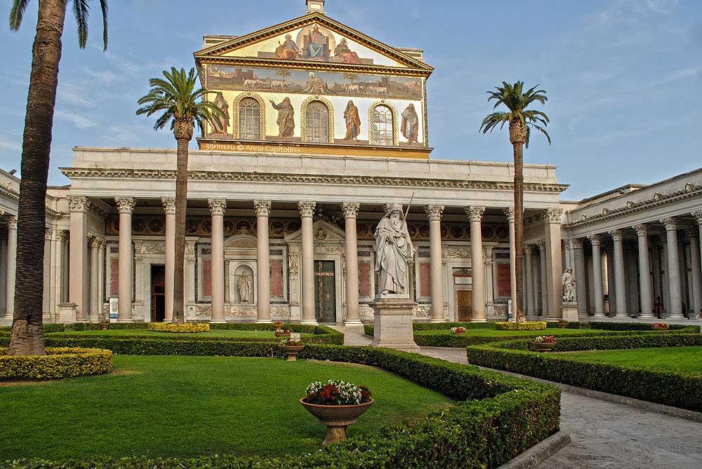 базилика святого павла рим, сан паоло фуори ле мура