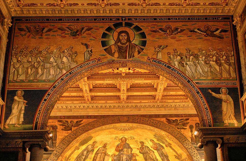 Базилика Святого Павла, триумфальная арка бизилики