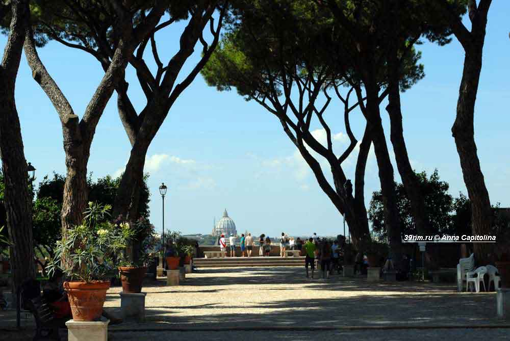 авентин , апельсиновый сад рим , смотровые площадки рим