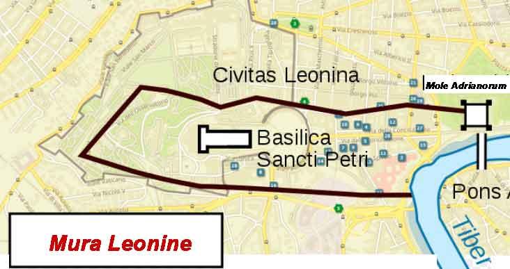 Стены Ватикана, Civitas Leonina