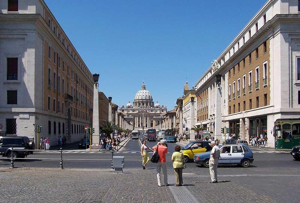 Рим, улица Примирения, Roma. Via della Conciliazione