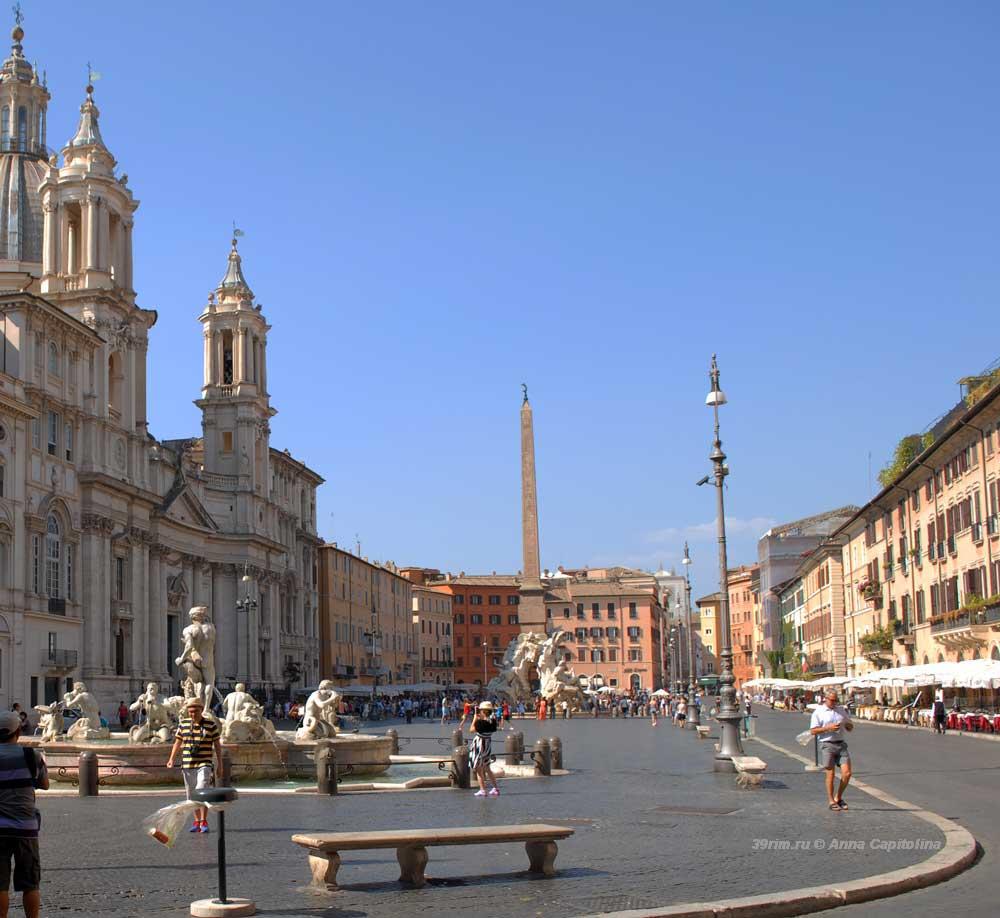 Площадь, Навона, Пьяцца Навона, Рим, rim, piazza_navona