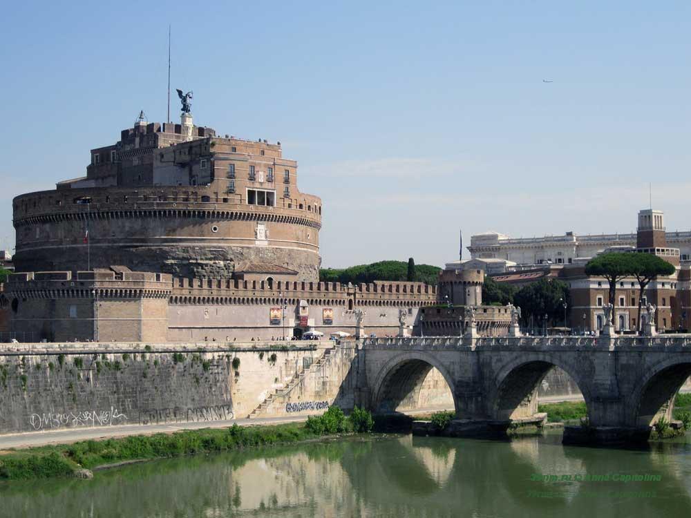Замок Святого Ангела, мавзолей адриана, мост ангелов рим
