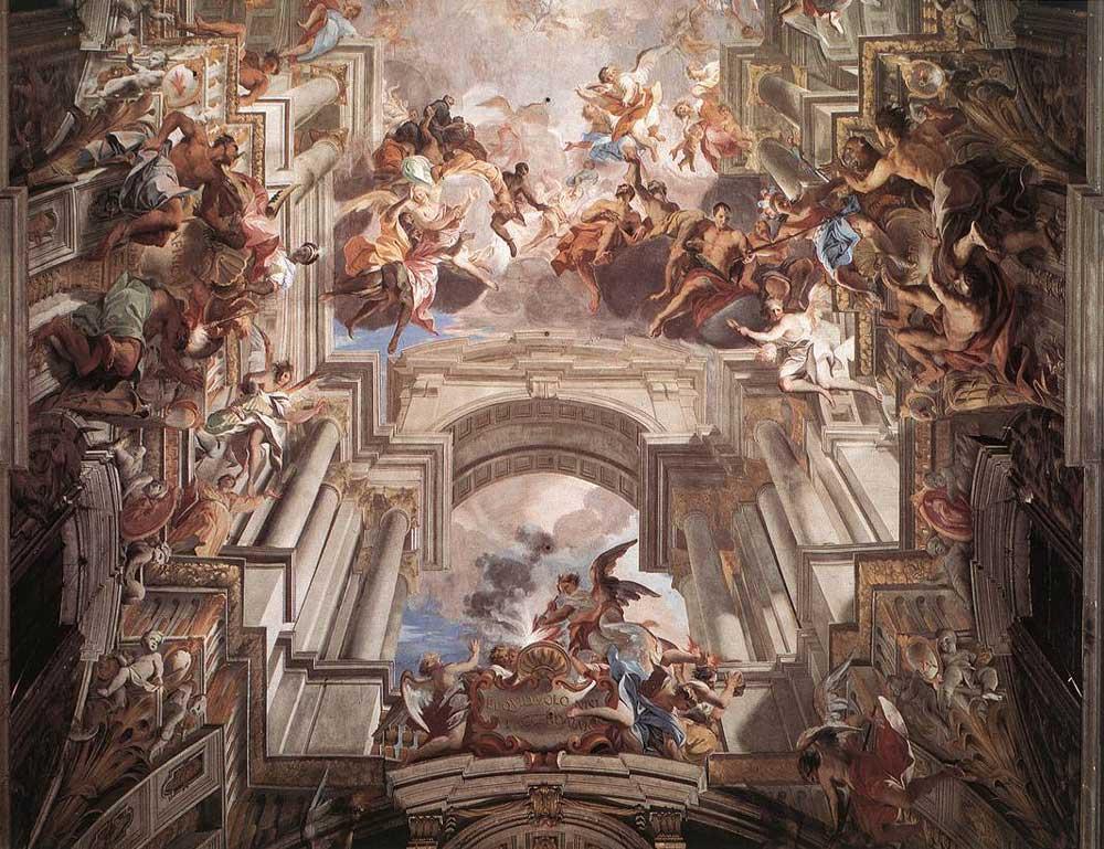 базилика сан игнацио, san_ignazio, frescos, andrea_pozzo