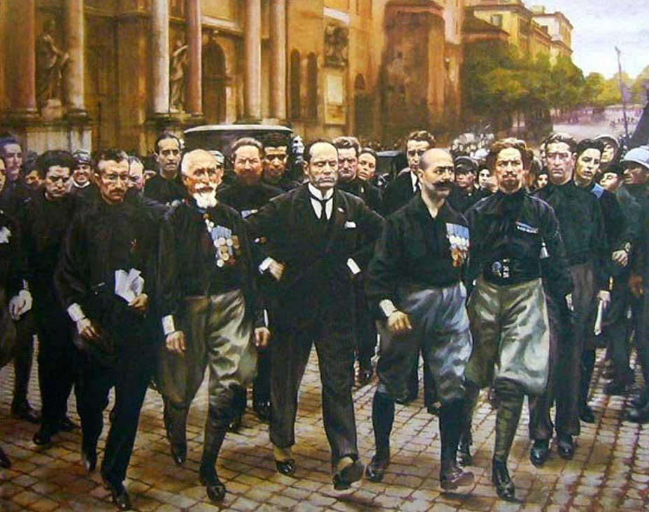 Муссолини, Марш на Рим