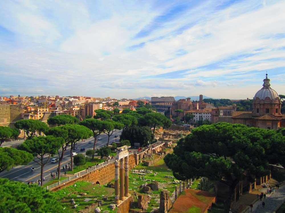 панорама рима колизей римский форум
