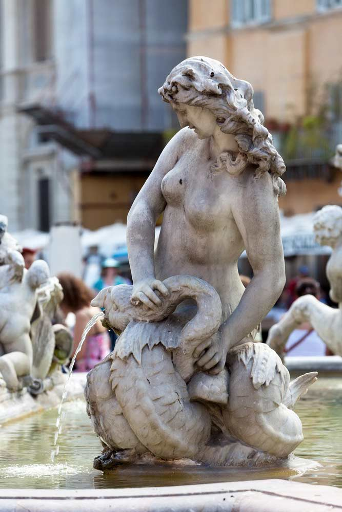 Фонтан Нептуна Площадь Наовна в Риме