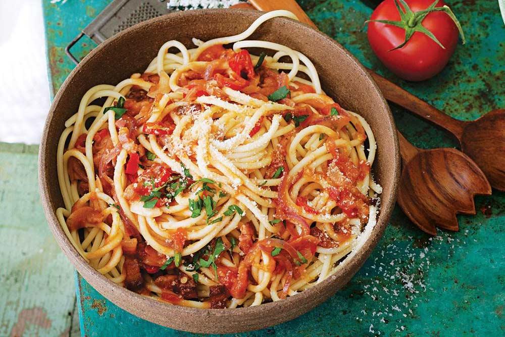 Паста Аматричана римская кухня традиционное блюдо