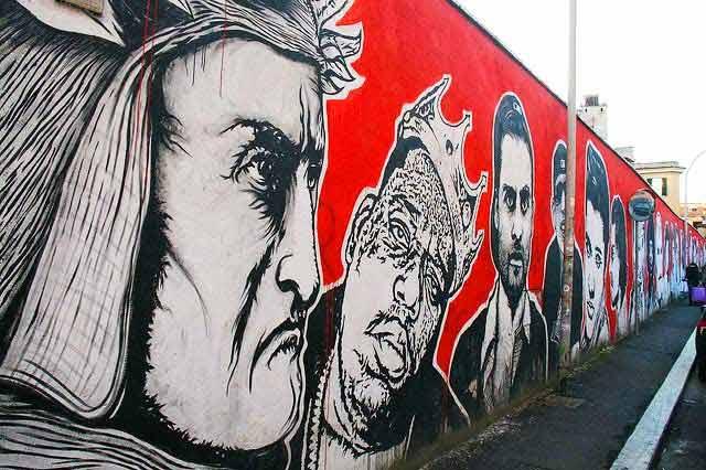 Стена Славы в Риме стрит арт остиензе