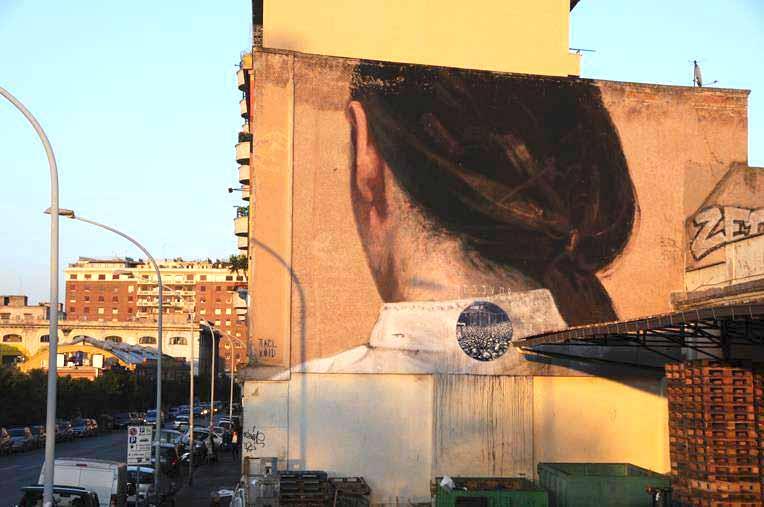 Axel Void стрит арт в Риме
