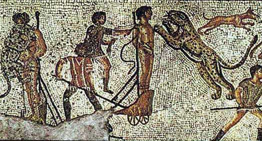 Мозаика Domnatio ad Bestia