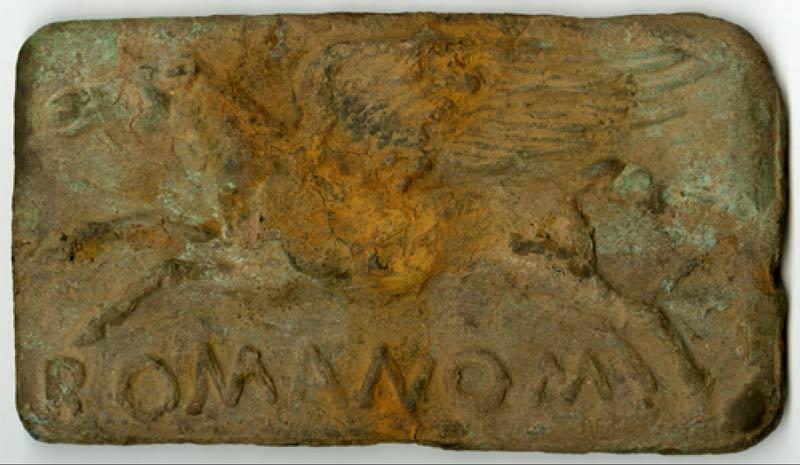 aes signatum ROMANOM бронзовые блоки древний рим