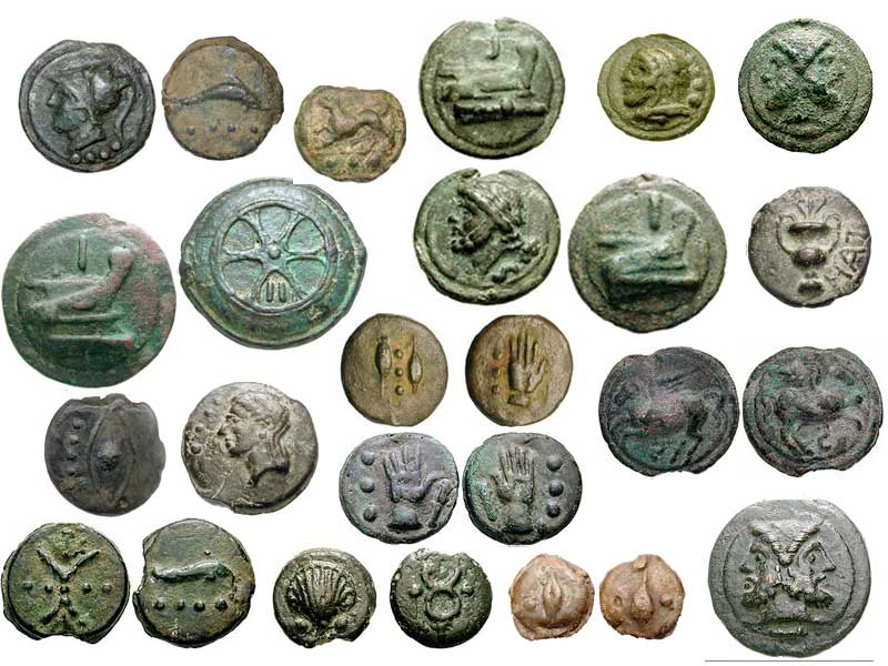 римские монеты бронзовые