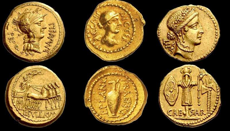 золотые монеты Рима ауреус