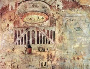 Фреска арены в Помпеях