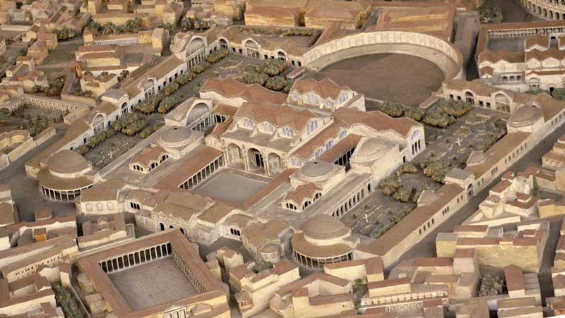 Римские Термы Траяна. Модель
