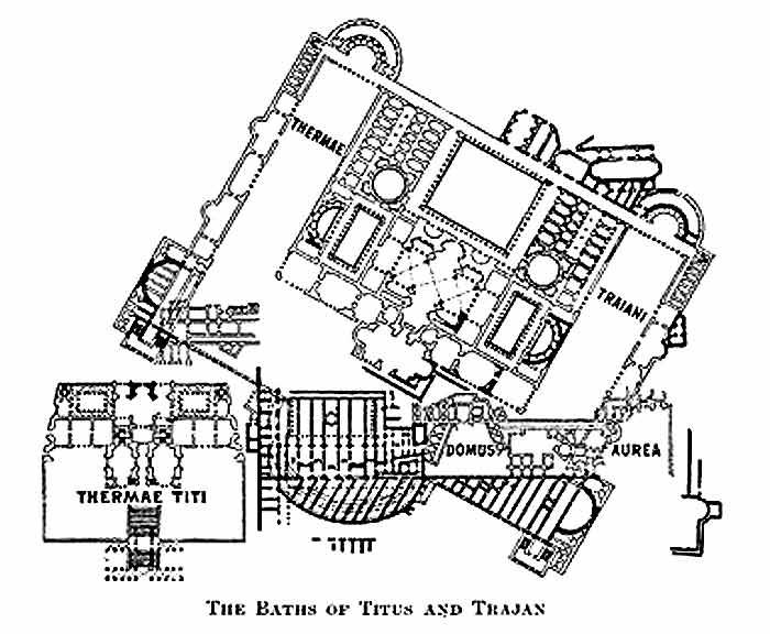 Термы Траяна в Риме план сооружения