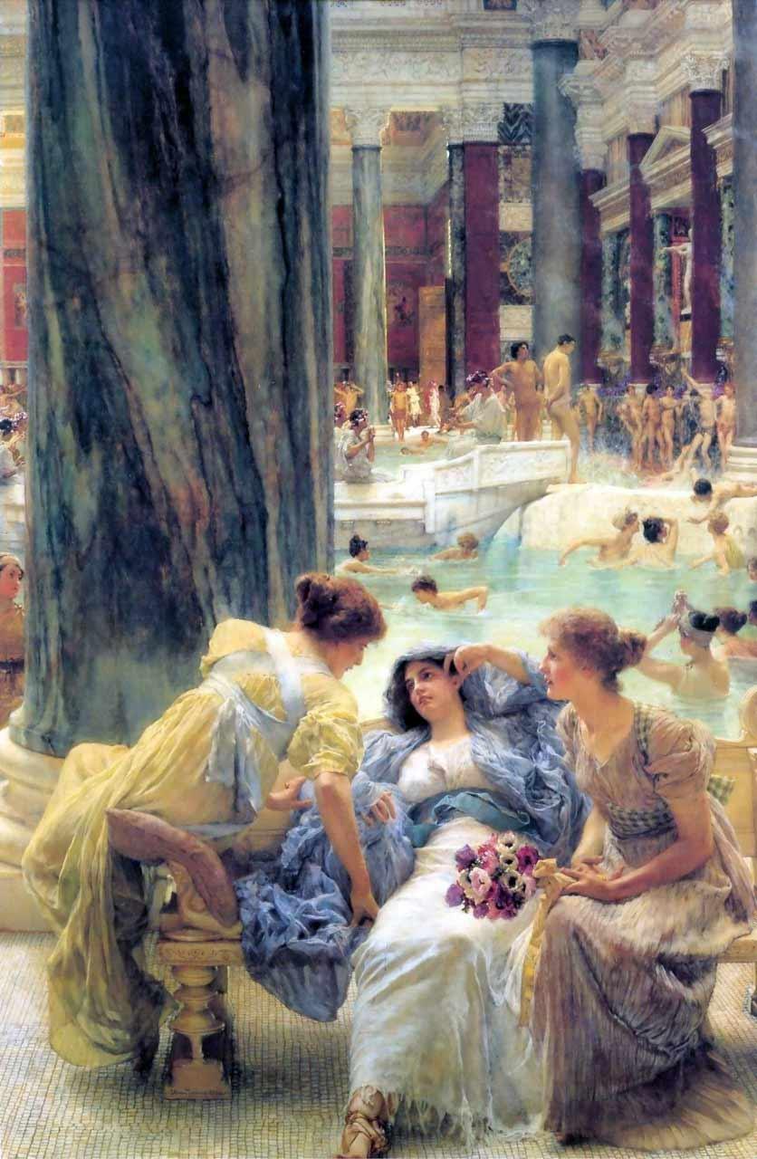 римские бани посетители
