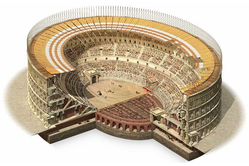 римский амфитеатр строение