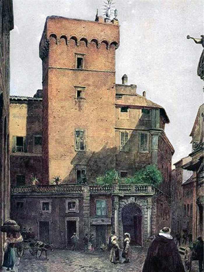 Обезьянья башня рим рисунок