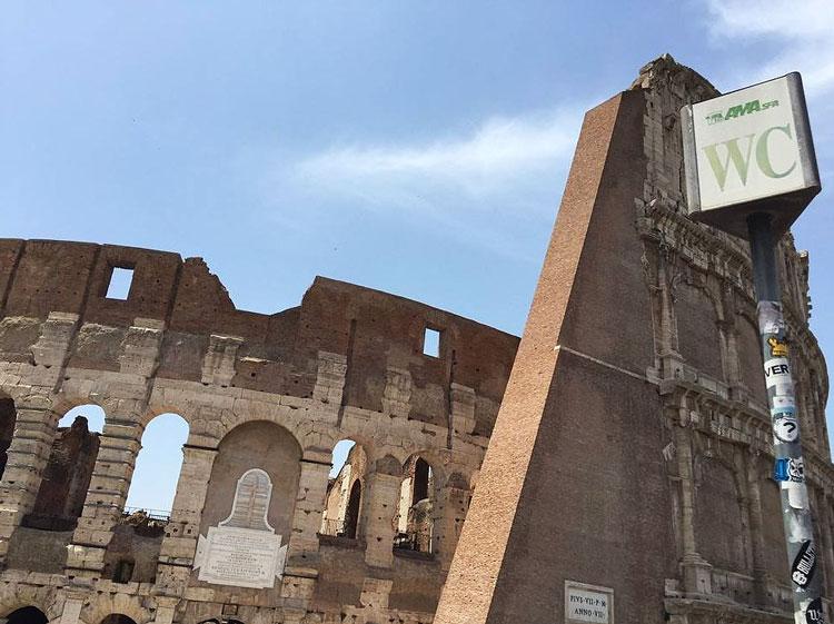 Туалеты в Риме