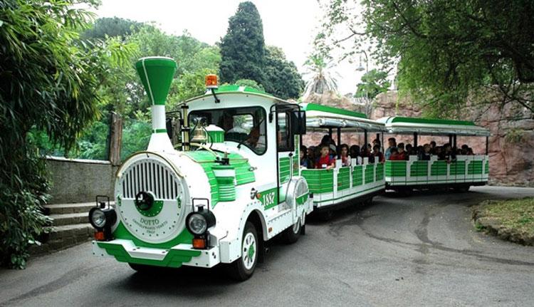 поезд Bioparco Express в римском зоопарке