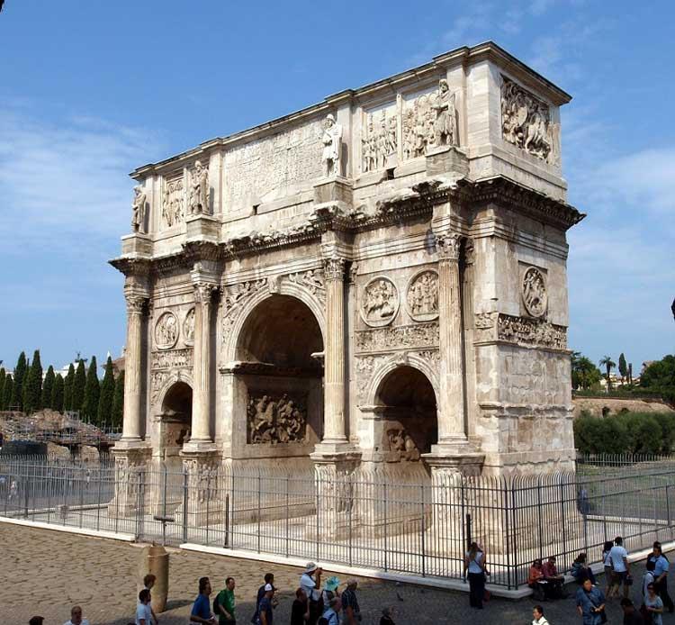 арка константина в риме, триумфальная арка константина