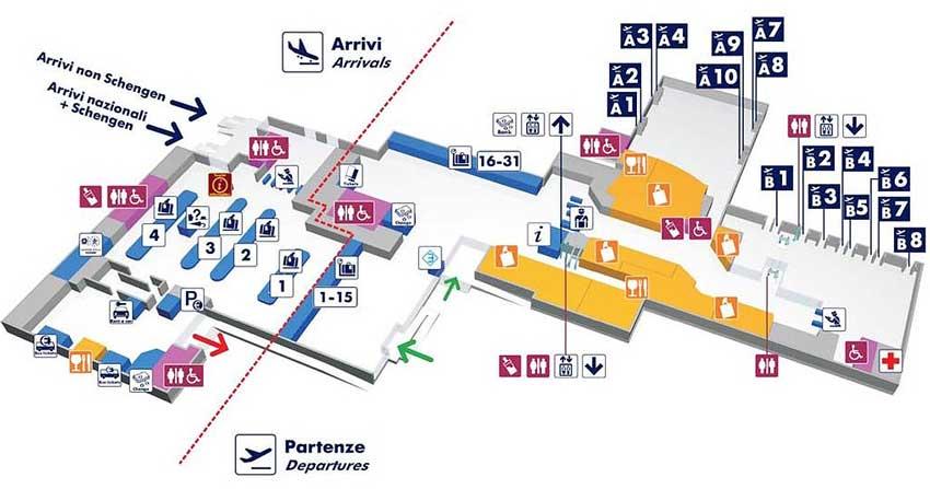 аэропорт чампино, план аэропорта