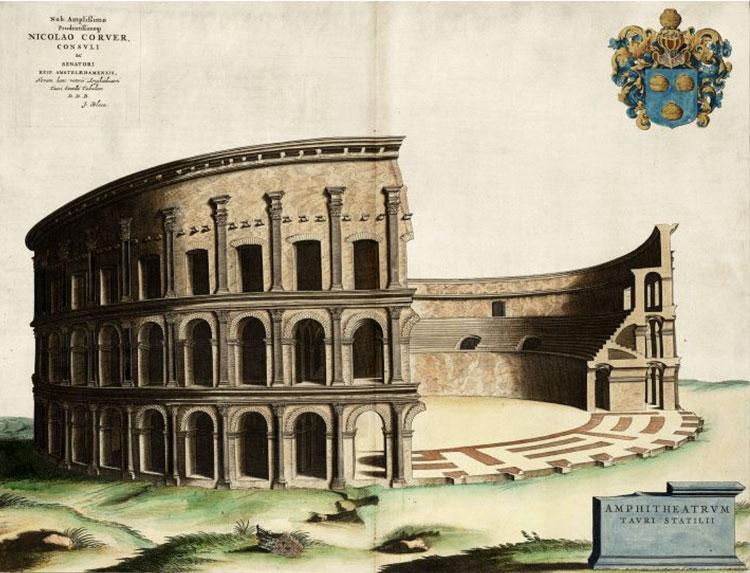 римский амфитеатр, древние амфитеатры