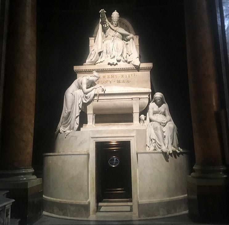 антонио канова, скульптуры антонио канова, гробница Климента 14