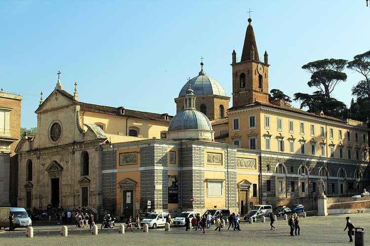 санта мария дель пополо , базилика рим