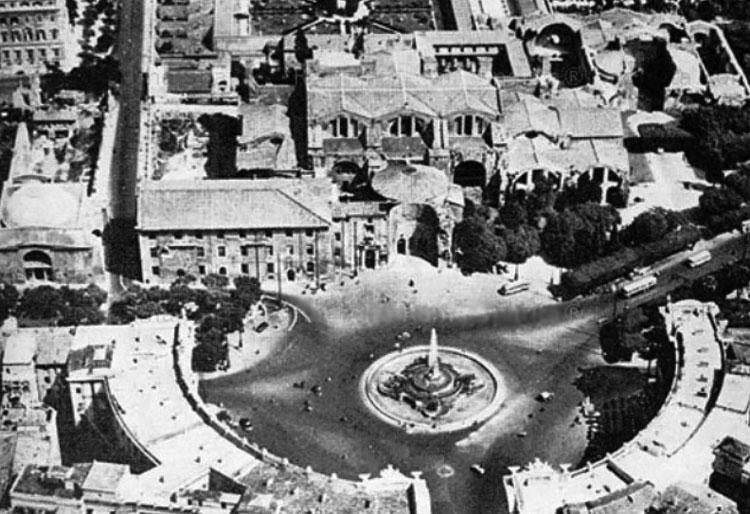 Площадь Экседра Рим, Площадь Республики Рим