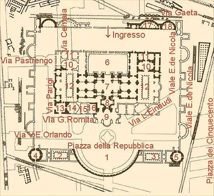 термы Диоклетиана план