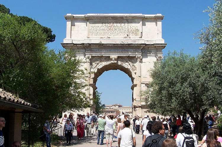 арка Тита, арка тита в Риме, триумфальная арка Тита