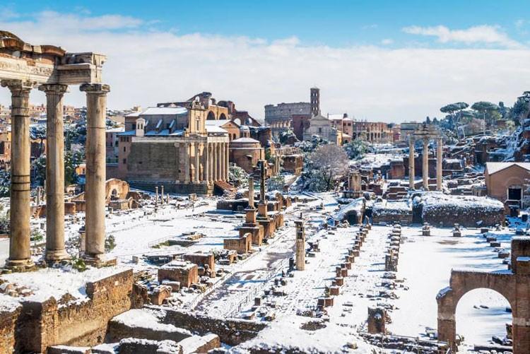 Рим в январе